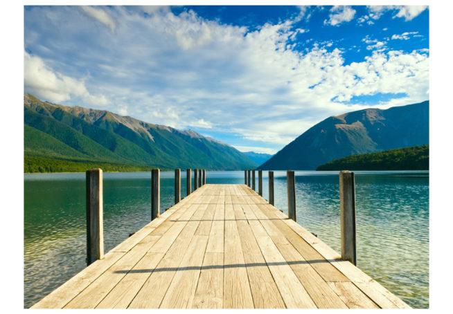 Jetty of a beautiful lake