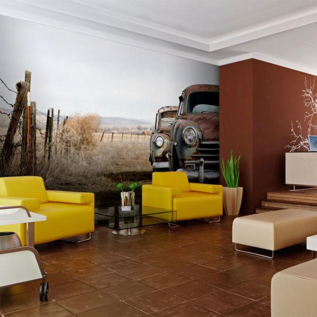 fototapete zwei alte amerikanische autos mirai trading. Black Bedroom Furniture Sets. Home Design Ideas