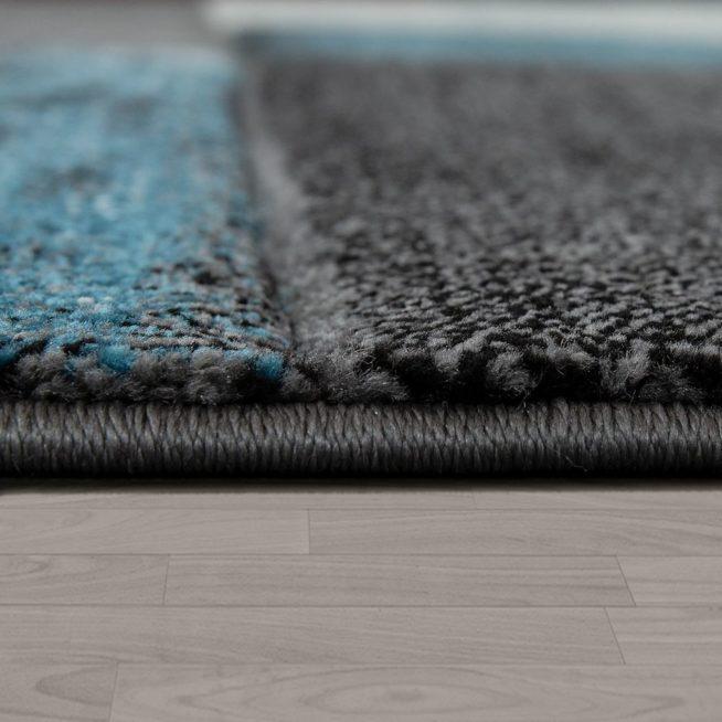 Designer Teppich Geometrisches Muster Türkis Mirai Trading Gmbh