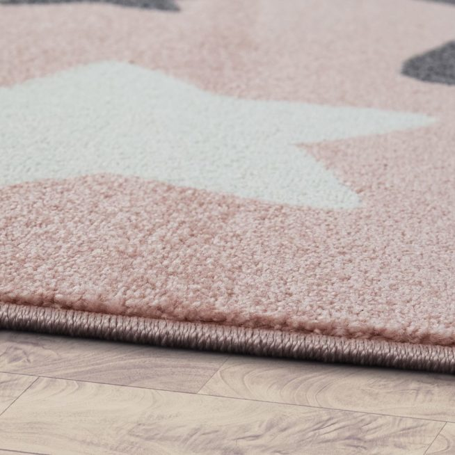 Teppich Kinderzimmer Sterne Rosa