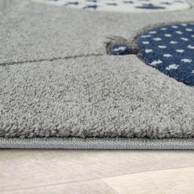 Kinderzimmer Teppich Bärenfamilie Sterne Blau