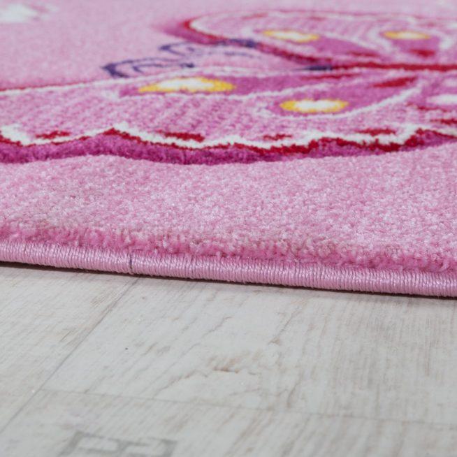 Kinderzimmer Teppich Schmetterling Pink