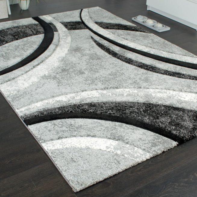 designer teppich grau schwarz creme meliert mirai. Black Bedroom Furniture Sets. Home Design Ideas