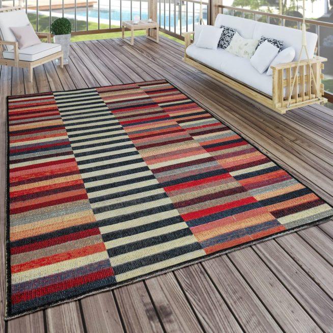 Fabulous In- & Outdoor Teppich Boho Streifen Bunt | Mirai Trading GmbH PH57