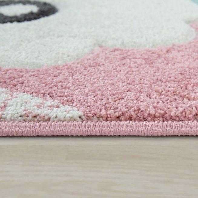 Teppich Kinderzimmer 3 D Motiv Alpaka Rosa
