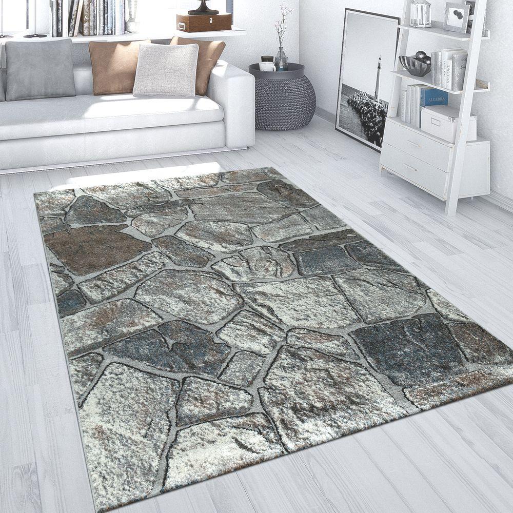 Teppich Fels-Design Steinboden-Optik Grau  Mirai Trading GmbH